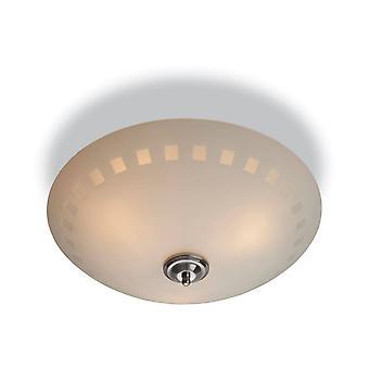første lys tusenfryd - 3 lys semi flush taklampe opal glass, dekorative mønster, E14