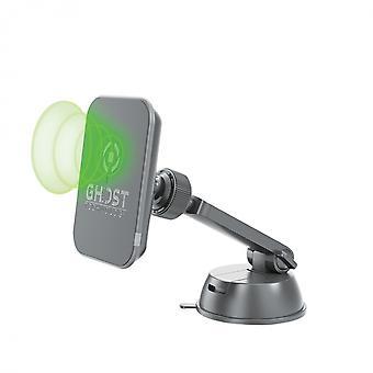 telefoonhouder Ghost draadloze oplader zwart 3-delig