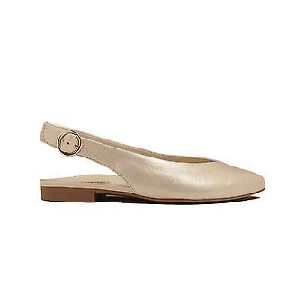 Paul Green 7461-02 Rame Gold Nubuck Leather Womens Sling Back Shoes