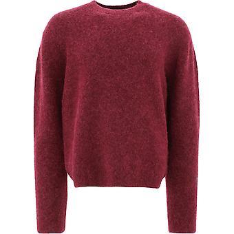Acne Studios B60153burgundy Men's Bourgogne Nylon Sweater