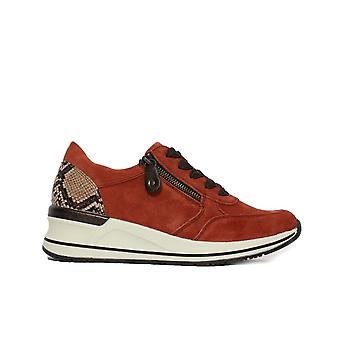 Remonte D3204-38 Rust Nubuck Leather Womens Casual Trainers