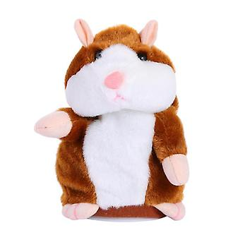 Tiny Talking Hamster Mouse, Plush Toy Stuffed Animals Learning Speak Sound