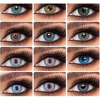 Farbige Augenkontaktlinsen - jährliche Verwendung
