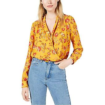 Project 28 | NYC Floral-Print Faux-Wrap Top