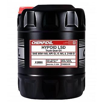 Chempioil 20L Truck Gear Oil Hypoid LSD 85W-140 API GL-5 LS
