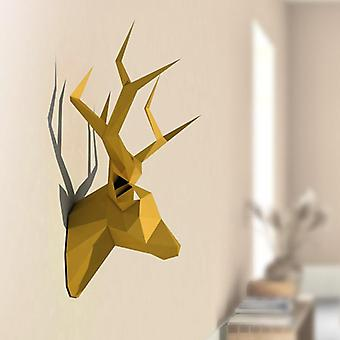 3d Animal Paper Model Toy - Pear David's Deer Head, Home Decor Living Room