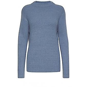 b.young Nora Blue Ribbed Jumper