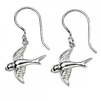 Beginnings Sterling Silver Swallow Earrings E5739