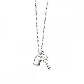 Beginnings Sterling Silver Padlock And Key Necklaces N4317C