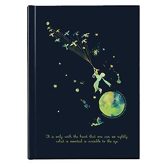 Den lille prins Paint Splat Heart Citat Hardback Journal