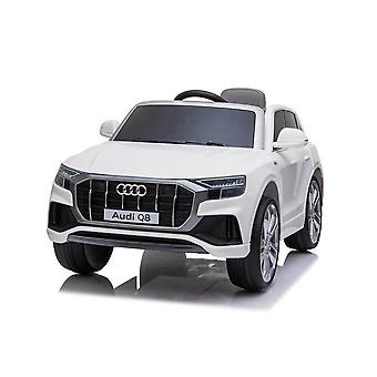 licensed audi q8 12v kids electric ride on car with remote control white
