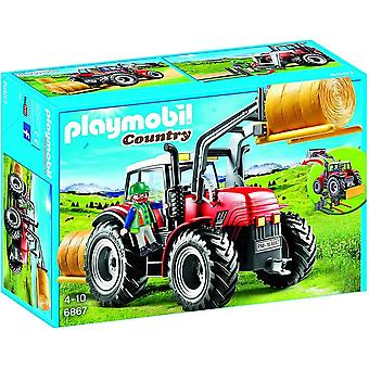 Playmobil 6867 country farm large tractor with interchangeable attachments