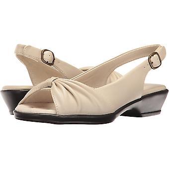 Easy Street Women's Fantasia Heeled Sandal, Bone, 8 2W US