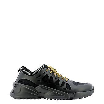 Salvatore Ferragamo 2c495734222 Men's Black Leather Sneakers
