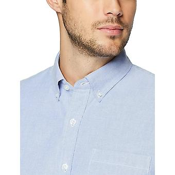 Goodthreads Men's Standard-Fit Short-Sleeve solid Oxford Shirt w/Pocket, blau, XX-Large