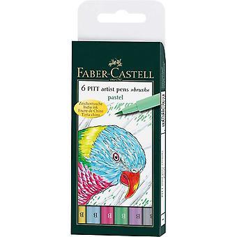 Faber-Castell PITT Artist Brush Pens Set of 6 (Pastel)