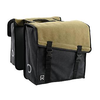 Willex Double Bicycle Bag 101 Canvas 38 L Green and Black