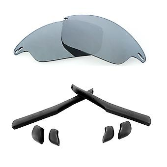 Replacement Lenses Kit for Oakley Fast Jacket Silver Mirror Black Anti-Scratch Anti-Glare UV400 by SeekOptics