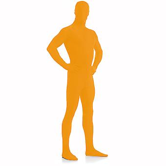 AltSkin Adult/Kids Full Body Stretch Fabric Zentai Suit - Zippered Back One Piece Stretch Suit Costume - Orange