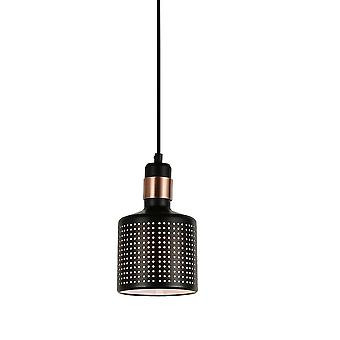 Italux Restenza - Modern Hanging Hang Hang Black 1 Light , E27