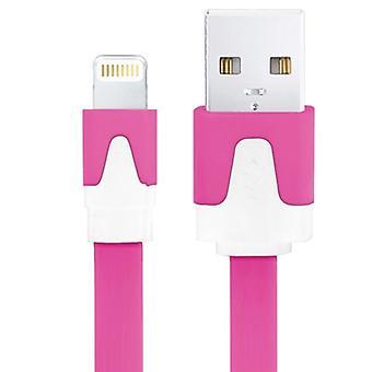 2m Noodle Style USB Sync Data / Oplaadkabel, voor iPhone 6 en 6 Plus, iPhone 6s en 6s Plus, iPhone 5 en 5S en 5C, iPad Air, iPad mini, mini 2 Retina, Co