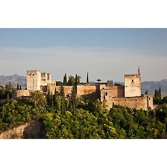 Spain Andalusia Granada Province Granada View of Alhambra Palace Poster Print by Julie Eggers
