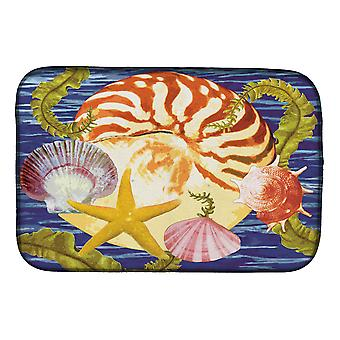 Carolines Treasures PRS4044DDM Nautilus And Gulf And Sundial Dish Drying Mat