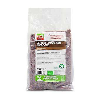 Gluten Free Organic Dark Flax Seeds - Compostable Package 400 g