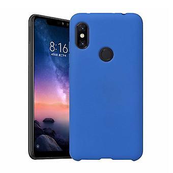 HATOLY Xiaomi Redmi Notera 8 Pro Ultraslim silikon fall TPU mål omslag blå