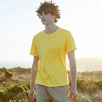 Summer Cotton T Shirts, Men Simple O Neck Stretch Solid New Tops, Clothing