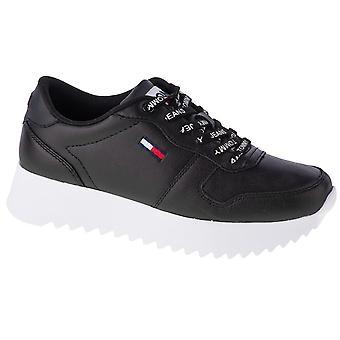 Tommy Hilfiger High Cleated Leather EN0EN01120BDS universeel het hele jaar vrouwen schoenen
