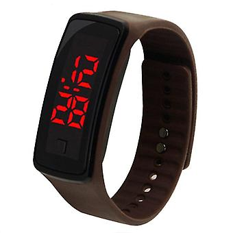 Men Women Digital Led Sport Watch Casual Silicone Wristwatch Bracelet