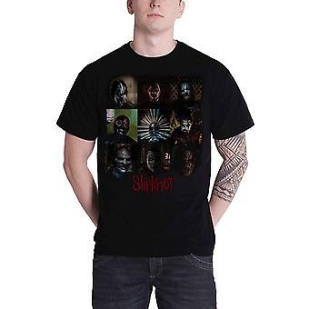 Slipknot T Shirt Blocks band logo Gray Chapter Official Mens Black
