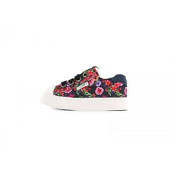 SHOESME Zipped & Laced Leather Canvas Shoe