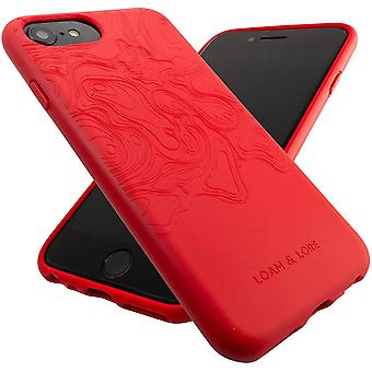 Eco Friendly Biodegradable iPhone 6 / iPhone 7/ iPhone 8 / iPhone SE 2020 Case (Crimson Coral)