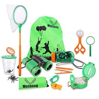 Mochoogle odkryty explorer kit dla dzieci - stem edukacyjny bug catcher - lornetka latarka magni