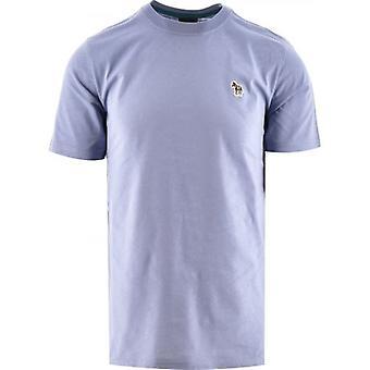 Paul Smith Pale Blue Regular Fit Short Sleeve Zebra T-Shirt