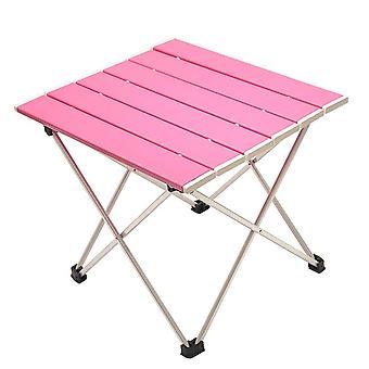 Bärbar hopfällbar aluminium rulla upp möbler camping tebord