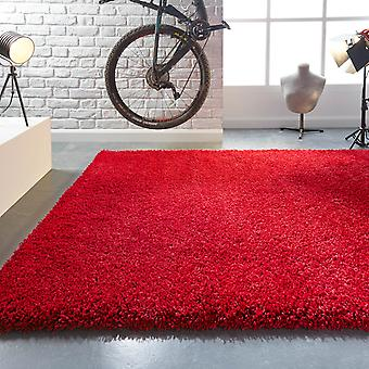 Athena Shaggy Rugs In Red