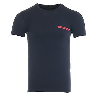 Emporio Armani Icon Logo Crew Neck T-Shirt - Marine Blue