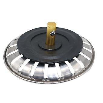 1-2 Pcs Stainless Steel Kitchen Sink Strainer Stopper Waste Plug Sink Filter