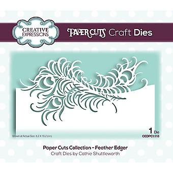 Creative Expressions Paper Cuts Collection Cutting Dies - Feather Edger