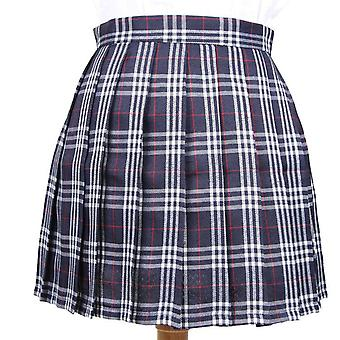 Plaid Pleated Short Skirts