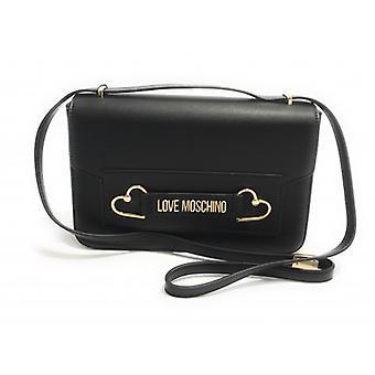 Женская сумка Любовь Moschino Плечевой ремень в эко-коже Цвет Черный Bs20mo80