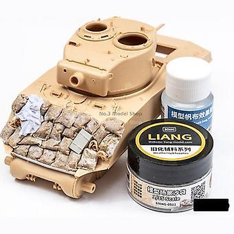 Военная модель Сцены мешки с песком выветривания эффект песка