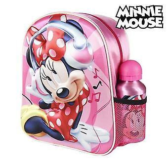 3D child bag minnie mouse smiling pink