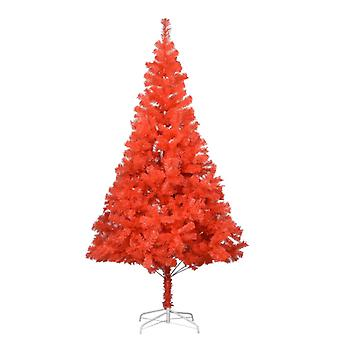 vidaXL شجرة عيد الميلاد الاصطناعي مع حامل أحمر 180 سم PVC