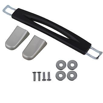 Bagage dragen plastic B020 handvat met schroeven caps 15cm zwart handvat