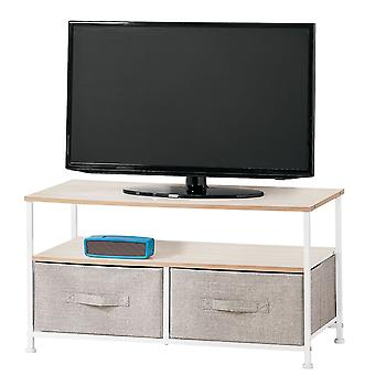 mDesign Fabric Storage TV Stand Organizer-Einheit