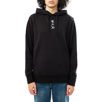 Calvin Klein sweat-shirt homme ck répéter texte sweat à capuche graphique j30j318302.beh